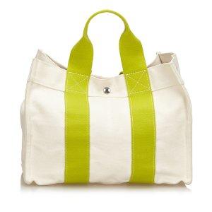 Hermès Bolso de compra blanco