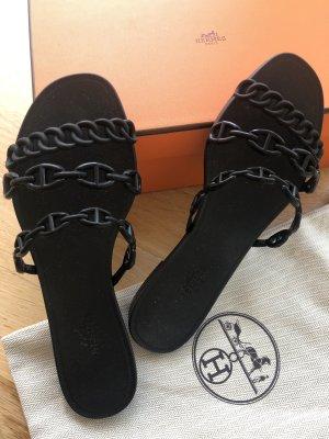 Hermès Comfort Sandals black