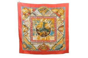 Hermès Gebreide sjaal rood Zijde