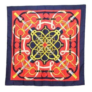 Hermès Bufanda de punto rojo Seda