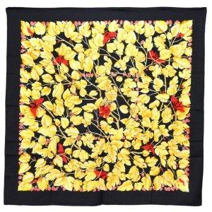 Hermès Écharpe en tricot noir soie