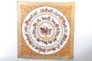 Hermès Gebreide sjaal bruin Zijde