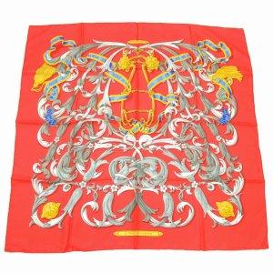 Hermès Sciarpa lavorata a maglia rosso Seta