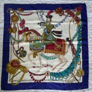 Hermès Écharpe en soie multicolore soie