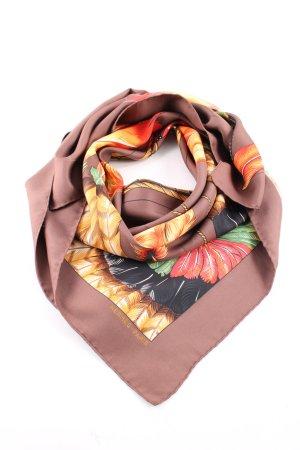 Hermès Seidentuch Blumenmuster Casual-Look