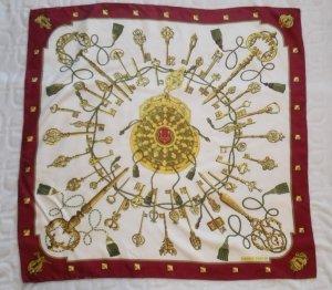 Hermès Zijden sjaal veelkleurig Zijde