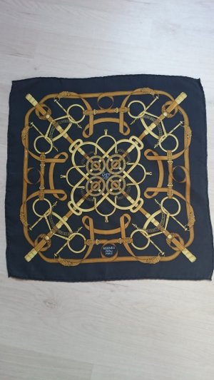 Hermès Silk Cloth gold-colored-dark blue