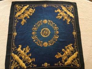 Hermès Silk Scarf dark blue-gold-colored
