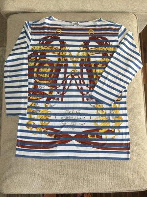 Hermes T Shirt Ringel weiß blau Gr. L