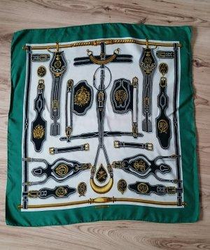 Hermès Zijden doek licht beige-bos Groen