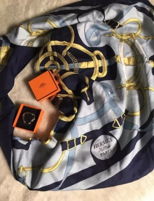 Hermes Tuch Schal blau carre