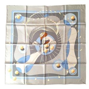 Hermès Tuch Schal Stola aus Seide 90 x 90 cm Motiv Swing Golf HERMES