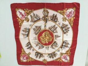 Hermés Tuch Seidencarré klassisch Naval rot weiss