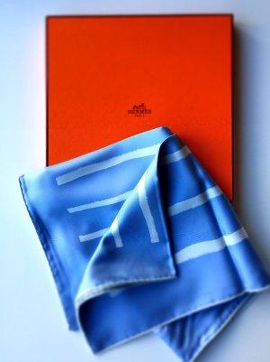 Hermès Tuch Seidentuch Carrée hellblau