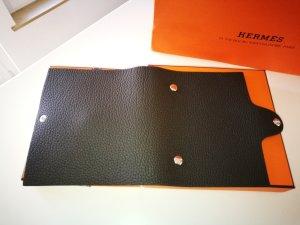 Hermès Schrijftas zwart-donkerbruin