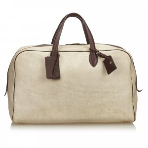 Hermès Bolso de viaje beige