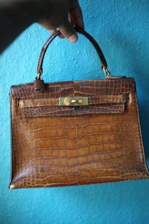 Hermés Vintage Kelly 28 Krokodil Leder Mini Kelly Sellier Seltene Hermés Tasche