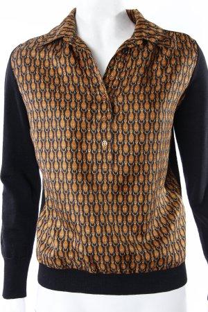 Hermès Vintage Pullover schwarz Logoprint