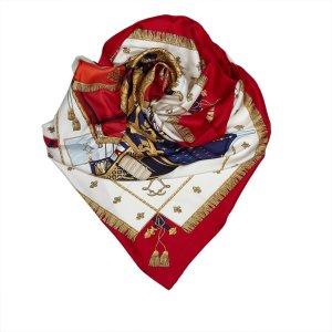 Hermes Vue du Carrosse de la Galere la Reale Silk Scarf