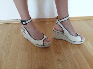 Hermès Wedge Sandals oatmeal