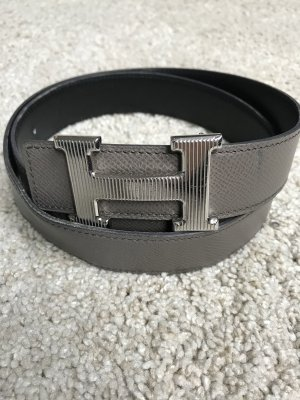 Hermès Reversible Belt black-taupe