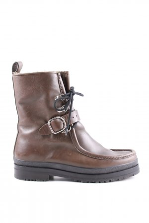 Hermès Winter Boots brown casual look