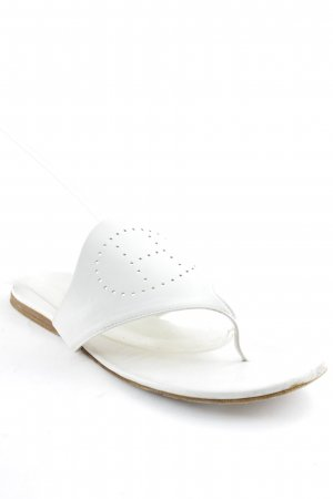 Hermès Zehentrenner-Sandalen weiß Casual-Look