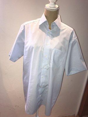 Shirt met korte mouwen wit-lichtblauw