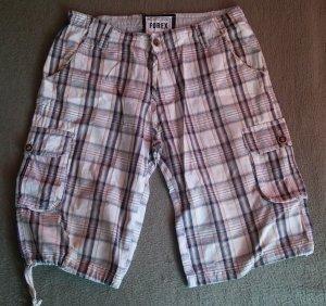Herren Hose Trendy Shorts Boutiqueware von FOREX RAW Gr. 34 in Mehrfarbig kariert