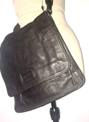 Herren Schulter Tasche aus Braune Leder von Masdimo Dutti