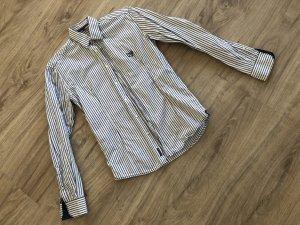 McNeal Camisa de manga larga blanco-azul oscuro