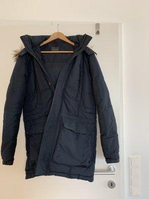 Zara Abrigo con capucha negro-marrón