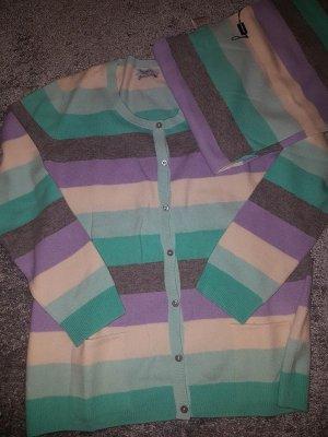 Herrlich flauschiger Public Cardigan mit passendem Schal aus Merinowolle