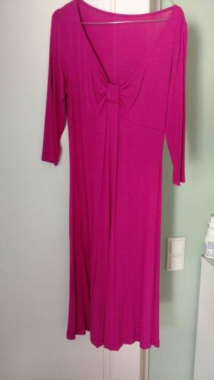 Herrlich leichtes Sommerkleid pink mit V-Ausschnitt von Trixi Schober