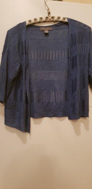 Primark Short Sleeve Knitted Jacket steel blue