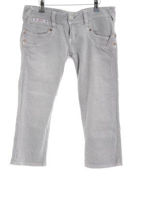 Herrlicher 3/4 Length Trousers light grey boyfriend style