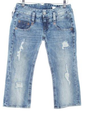 Herrlicher Jeans 3/4 bleu style décontracté