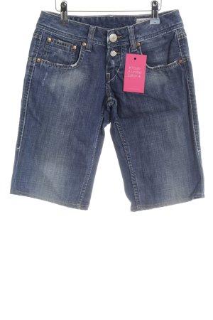 Herrlicher 3/4-jeans donkerblauw casual uitstraling