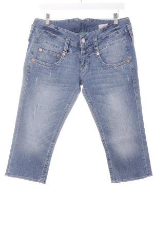 Herrlicher 3/4 Jeans kornblumenblau Used-Optik