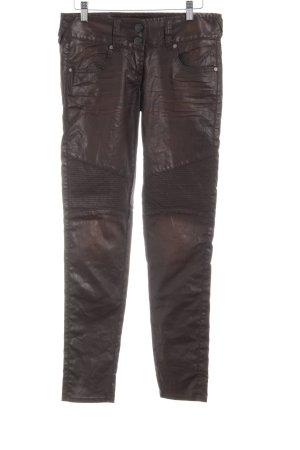 Herrlicher Biker jeans bruin wetlook