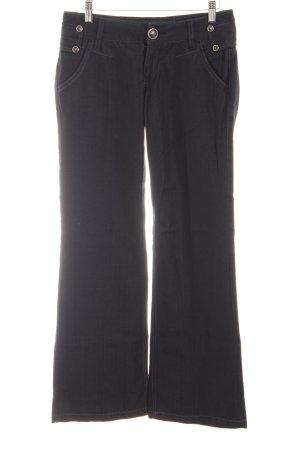 Herrlicher Boot Cut Jeans schwarz Casual-Look