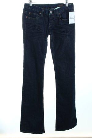 Herrlicher Boot Cut Jeans blau schlichter Stil