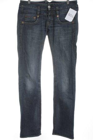 Herrlicher Boot Cut Jeans dunkelblau Casual-Look