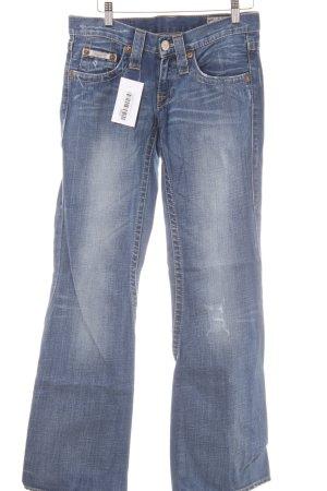 Herrlicher Boot Cut Jeans graublau-blau Jeans-Optik