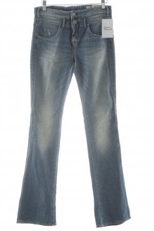 Herrlicher Boot Cut Jeans himmelblau-hellgelb Casual-Look