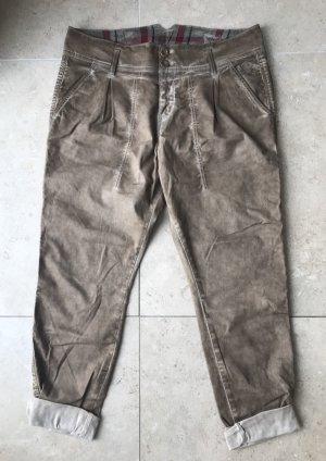 Herrlicher Pantalon boyfriend marron clair-beige