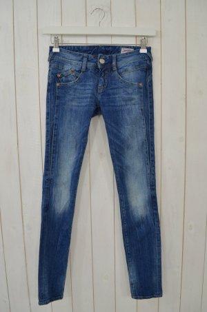 HERRLICHER Damen Jeans Blau Mod.GILA Mittelblau Skinny Schmales Bein Gr.25/32