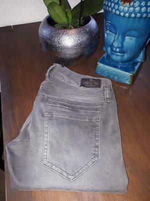 Herrlicher Slim jeans grijs Katoen