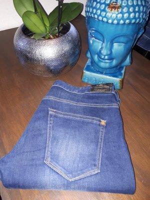 Herrlicher Slim jeans donkerblauw Gemengd weefsel
