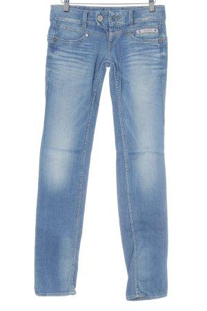 Herrlicher Low Rise Jeans blue acid wash